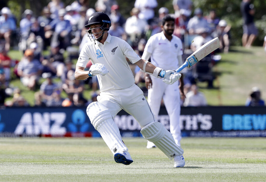 Trent Boult runs while batting during play on day two of the second Test between New Zealand and India at Hagley Oval in Christchurch, New Zealand, Sunday, March 1, 2020