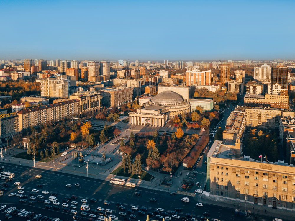 Downtown Novosibirsk is the largest urban habitat of Siberia, infamous for concentration camps of the Stalin era and numerous graves of gulag victims beneath the highways.