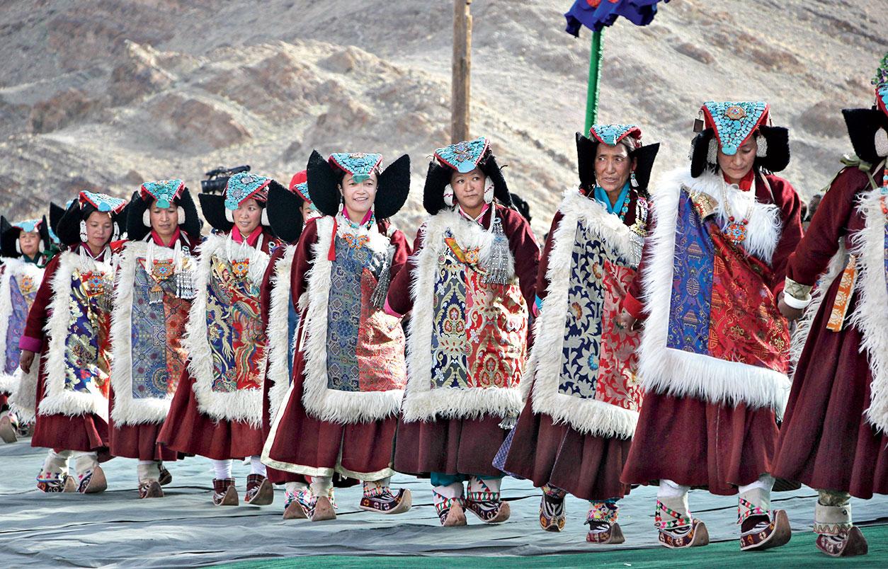 The Ladakhi dance, Shondol, being performed at Naropa Festival in Leh