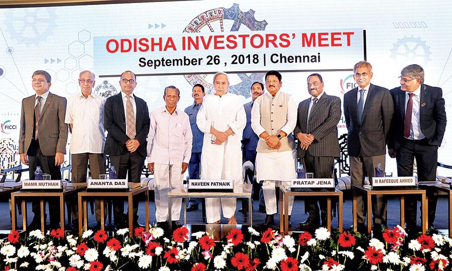 Odisha chief minister Naveen Patnaik at the investors' meet in Chennai on Wednesday