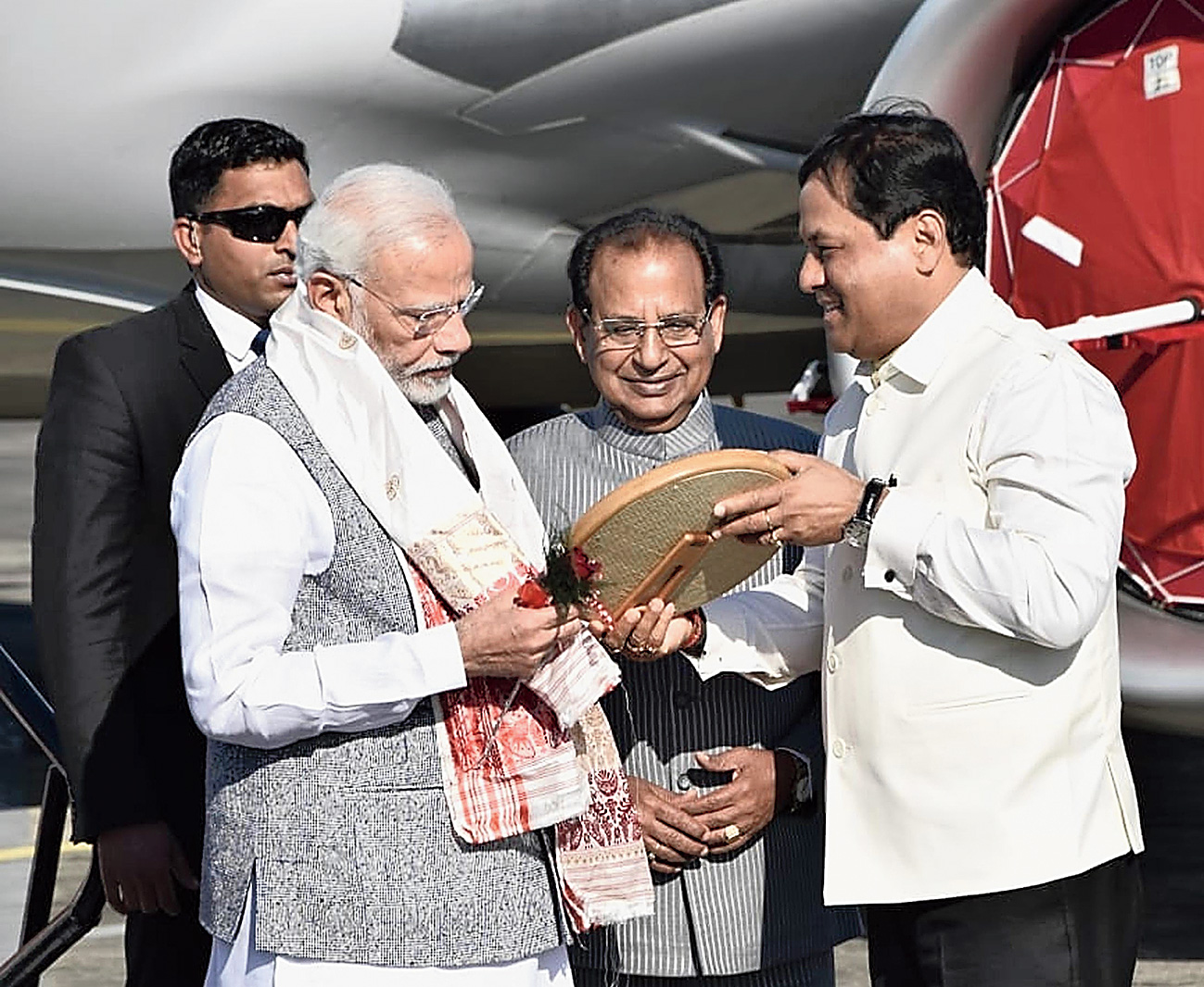 Narendra Modi targets Congress at Bogibeel bridge launch