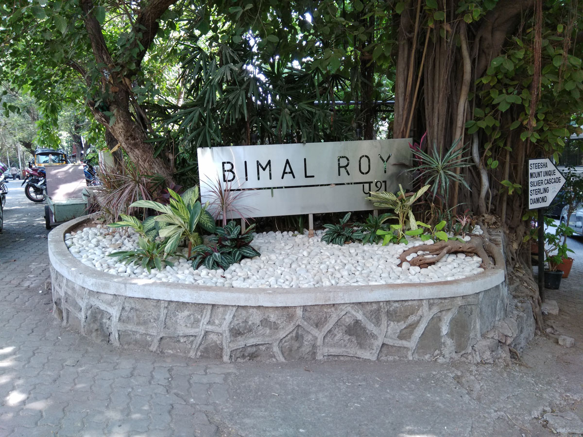 A plaque on the lane opposite filmmaker Bimal Roy's cottage on Mount Mary, Mumbai