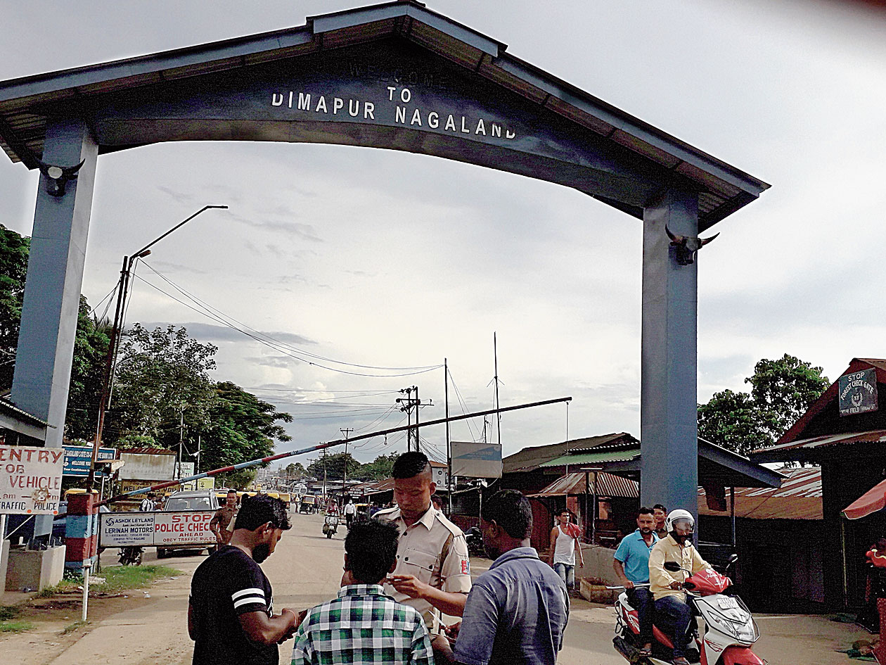 New Field check gate in Dimapur bordering Assam's Karbi Anglong district.