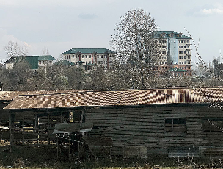 The EDI complex near Pampore which has seen repeated gun battles with militants