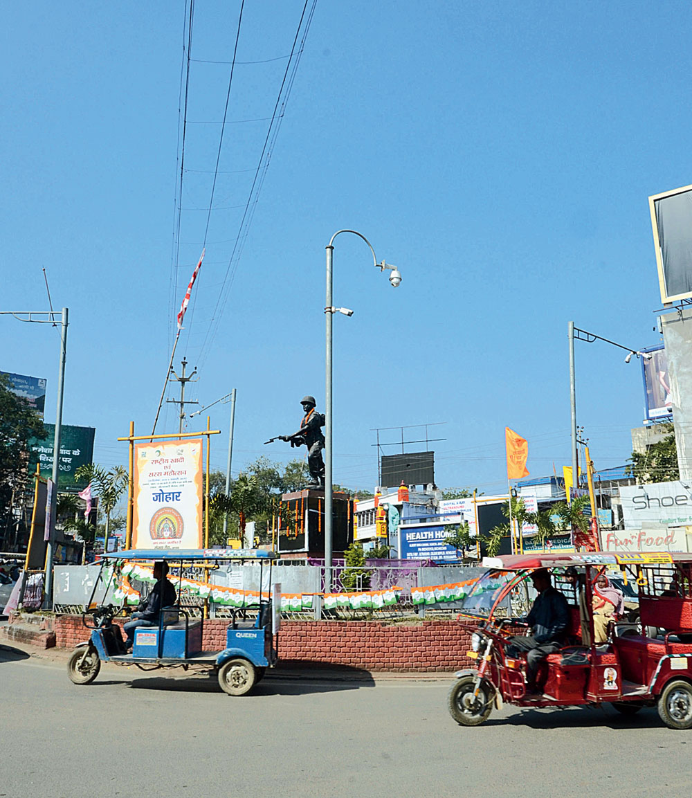 An ANPR camera monitors traffic movement at Albert Ekka Chowk in Ranchi earlier this week.
