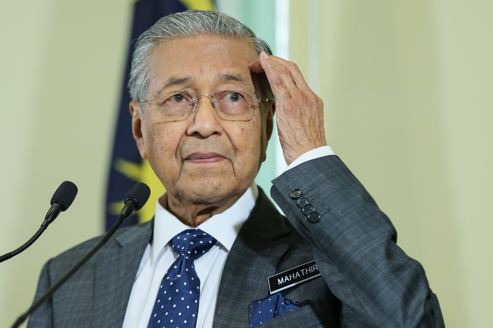 Prime Minister of Malaysia Mahathir Mohamad.