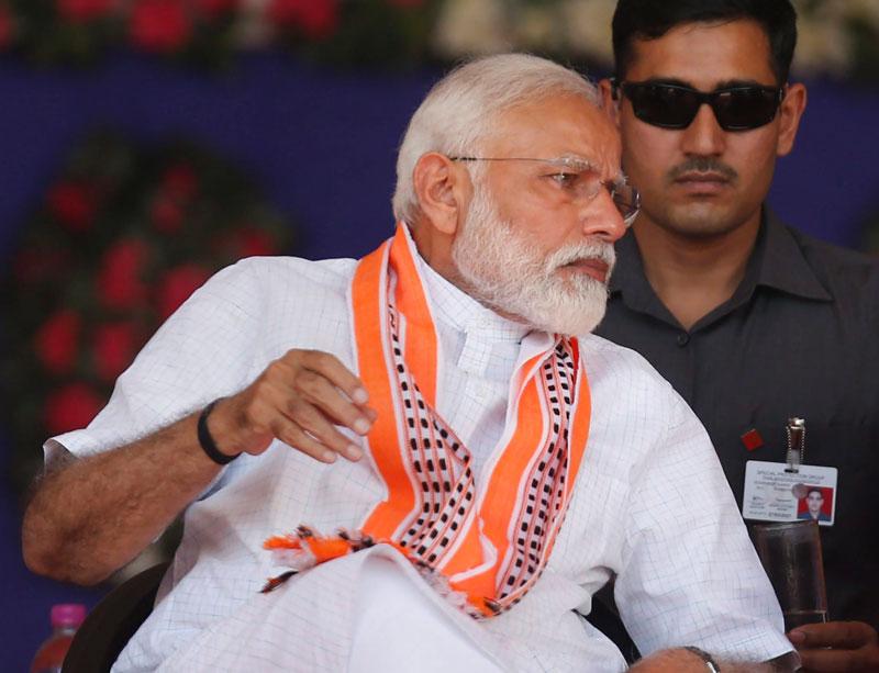 PM Modi in Junagadh, Gujarat, on Wednesday.
