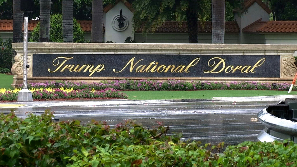 This June 2, 2017, file image shows the Trump National Doral in Doral, Florida. US President Donald Trump had said on Saturday, October 19, 2019, he is reversing his plan to hold the next Group of Seven world leaders' meeting at the Doral golf resort