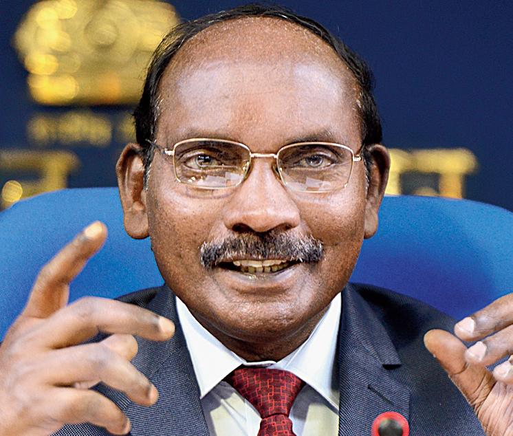 Isro chairman Kailasavadivoo Sivan in New Delhi on Friday.
