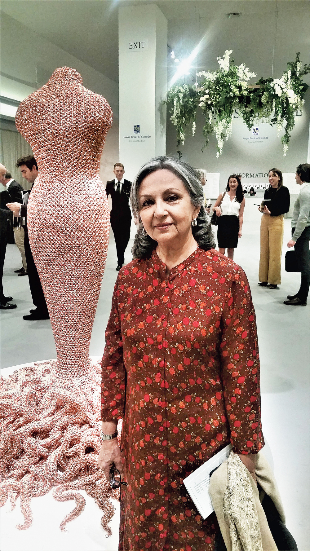 Sharmila Tagore at Masterpiece, an art exhibition in London in June