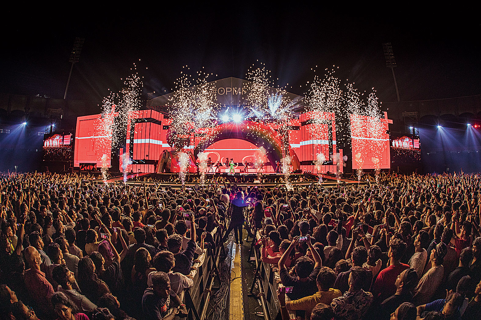 DY Patil Stadium buzzed as a whopping 25,000 fans on the ground sang out loud Katy Perry's last song of the night as fireworks lit up the Mumbai sky.