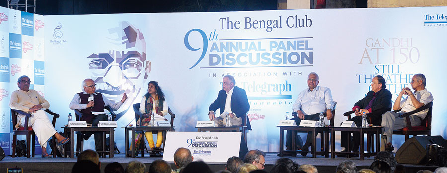 The panellists with the members of Bengal Club before the start of The Bengal Club 9th Annual Panel discussion, in association with The Telegraph on Friday.