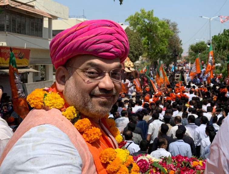 Elections will be fought on issue of who will lead India: Shah