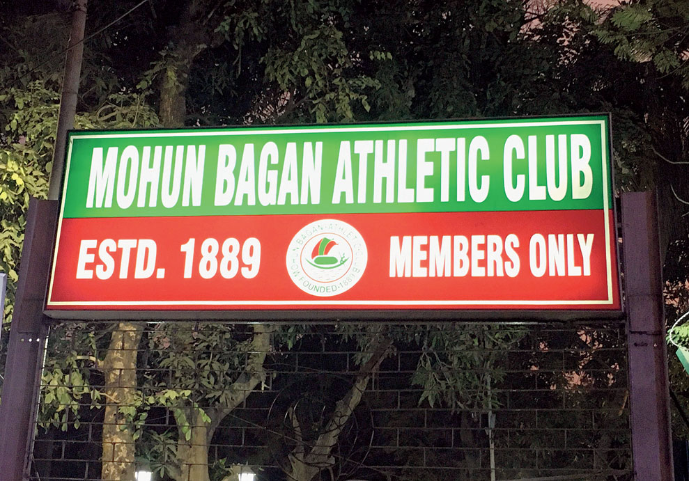 Entrance to the Mohun Bagan tent