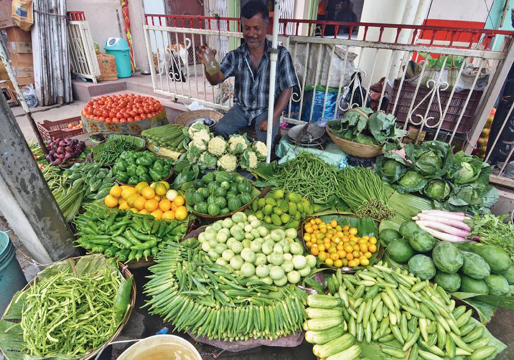 A vegetable vendor in Guwahati