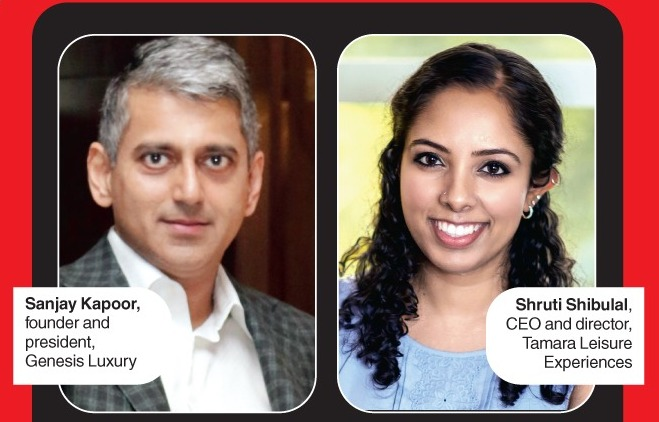 Sanjay Kapoor, founder and president, Genesis Luxury and Shruti Shibulal, CEO and director, Tamara Leisure Experiences