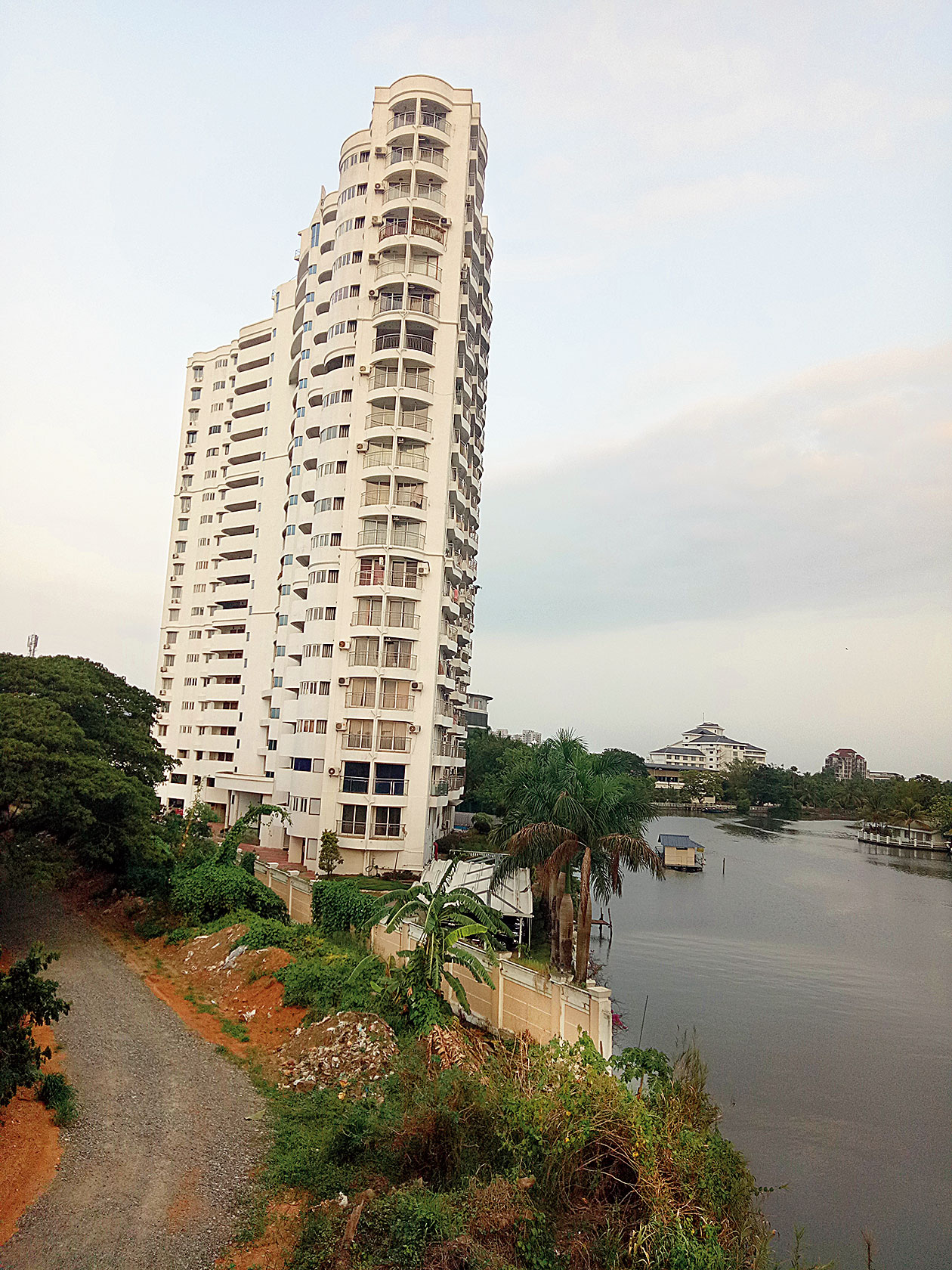 One of the apartment complexes awaiting demolition in Maradu, Kochi