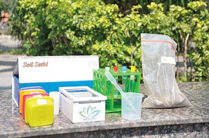 Soil Sathi kit developed by Arogyam