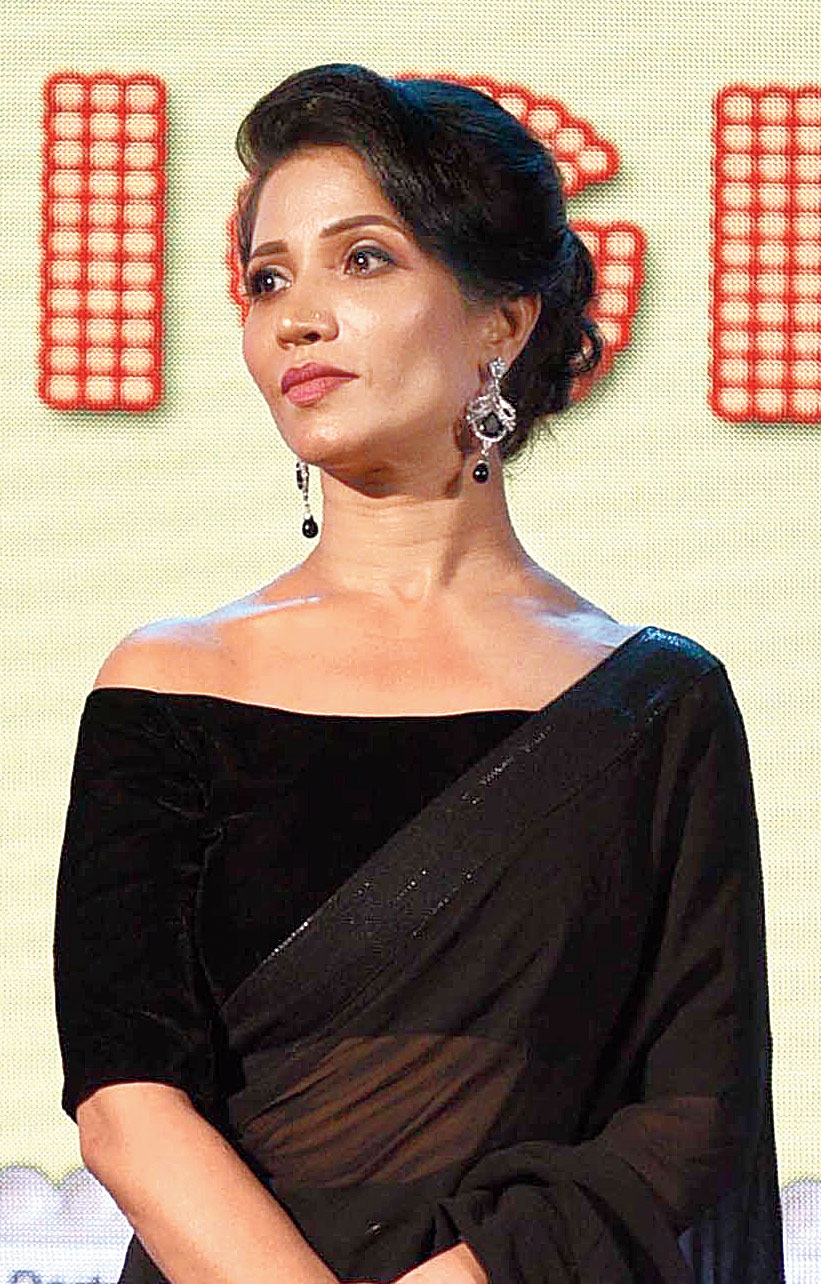 Mrs India International and actress Richa Sharma at the event held at Vidya Mandir on Friday