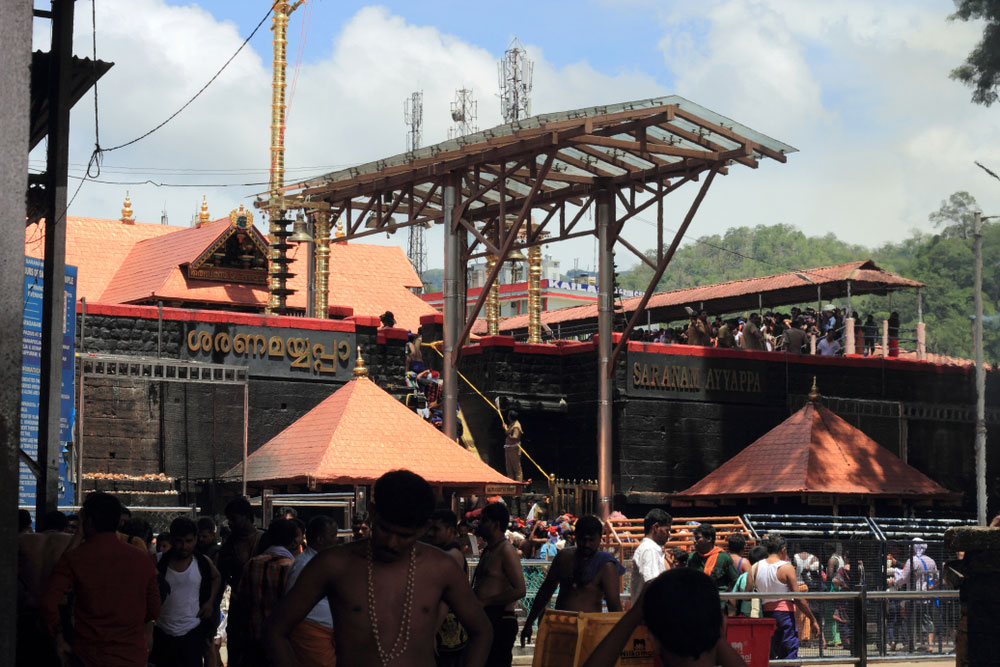 Ayyappa temple at Sabarimala in Kerala
