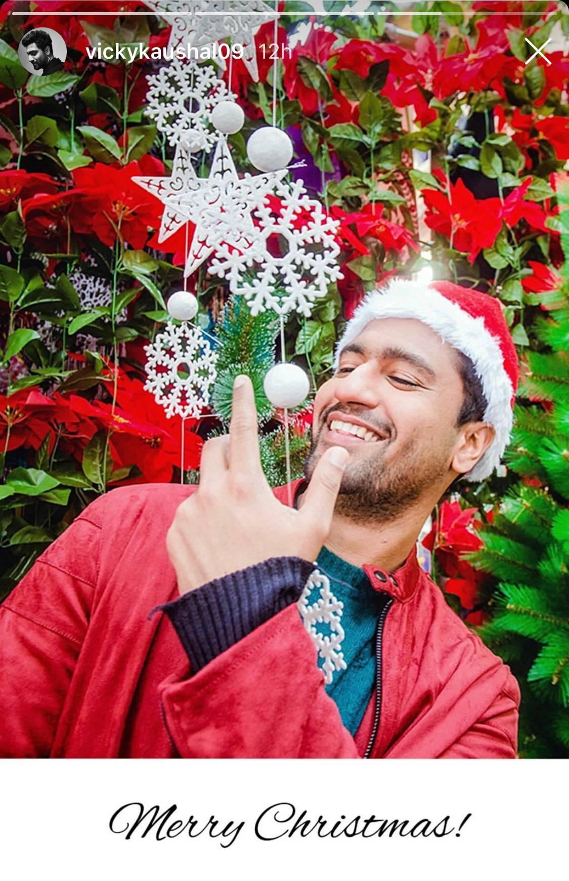 Vicky Kaushal wished all a Merry Christmas