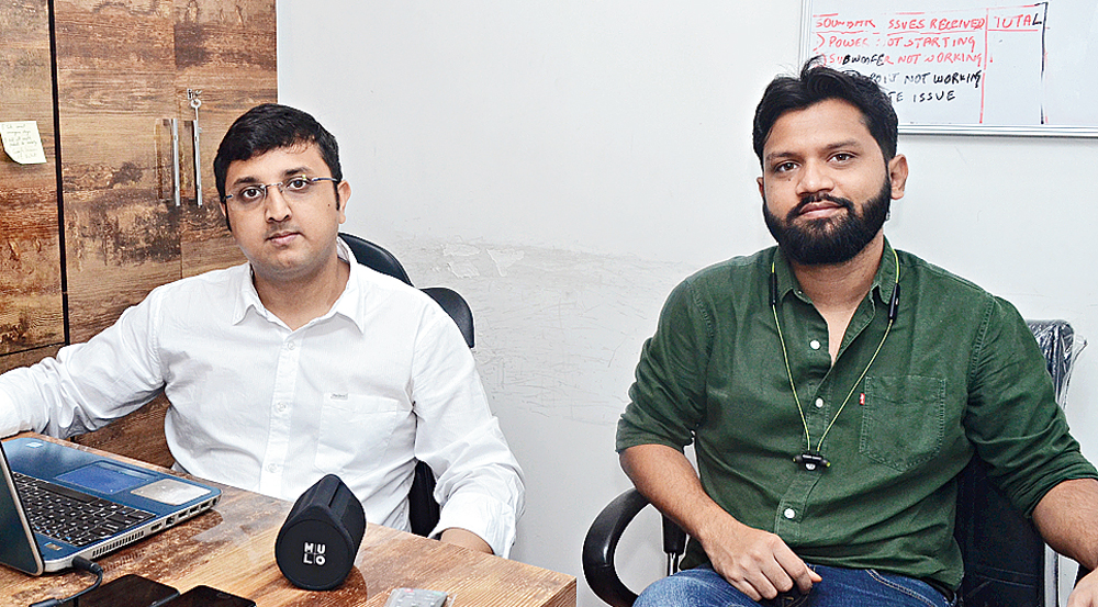 Archisman Chatterjee (left) and Aniket Ghosh Choudhury of MULO at their office