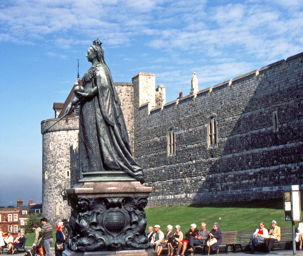 Statue of Britain's late Queen Victoria, outside Windsor Castle in Windsor, west of London
