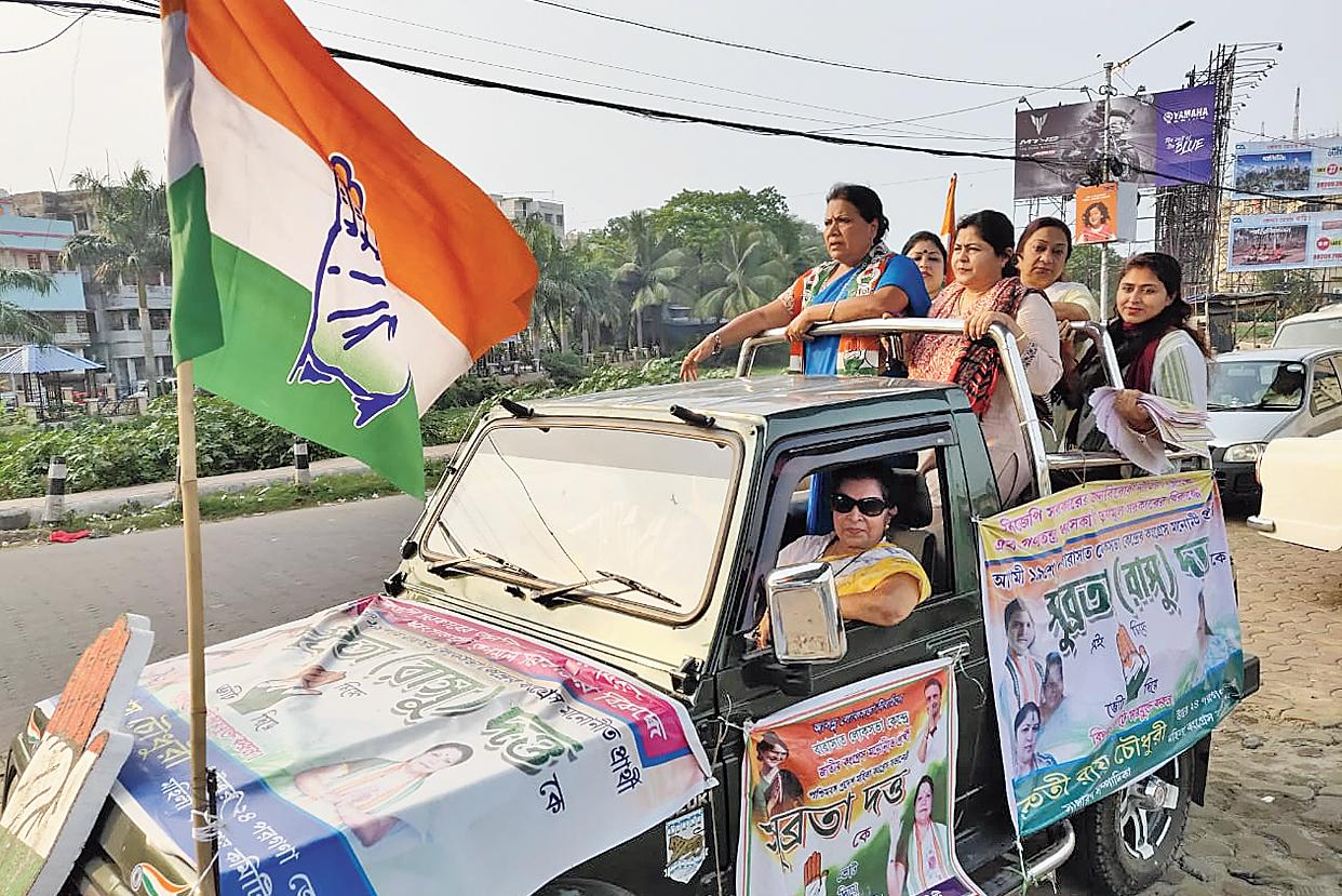 Subrata Dutta on campaign trail