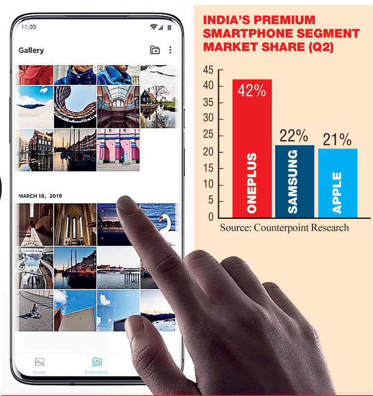The Shenzhen-HQed company has managed to widen its lead over Apple and Samsung in the premium market with highest ever market share of 42 per cent, a Counterpoint Research report (for Q2) has said on Wednesday.