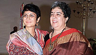 Reena (right) with Aamir's present wife Kiran Rao
