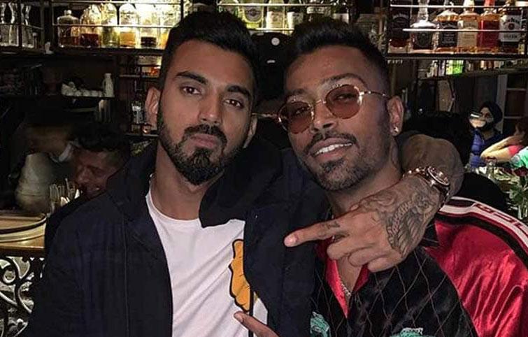 Indian cricketers Hardik Pandya and KL Rahul
