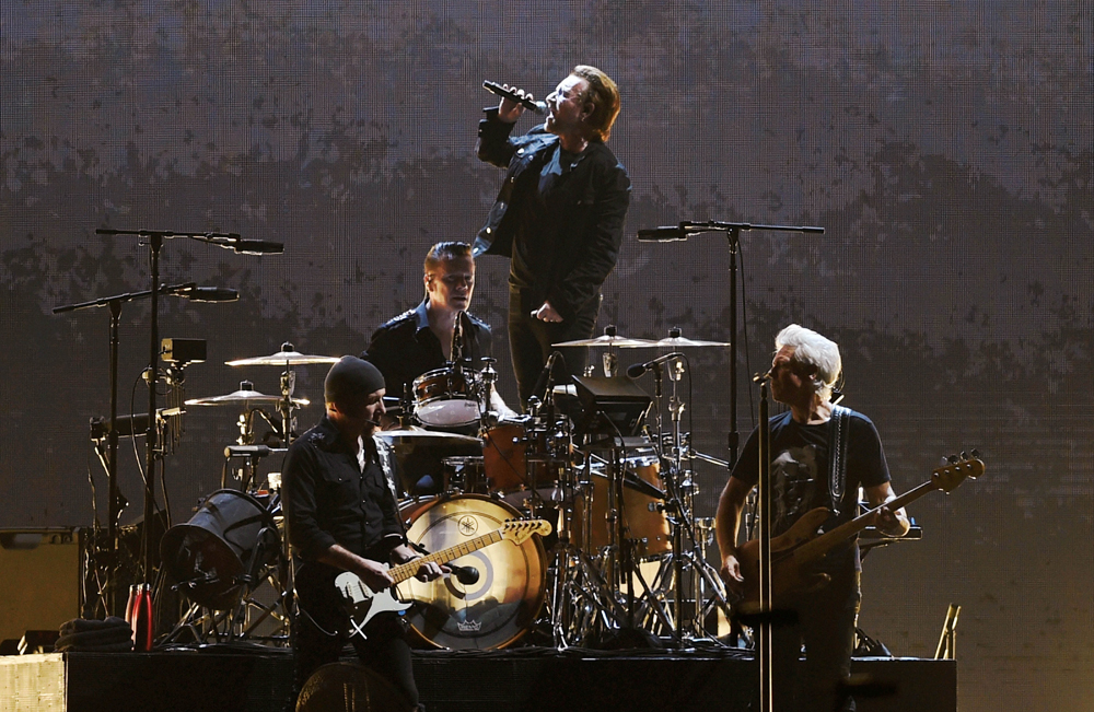 U2 during the concert in Navi Mumbai last Sunday