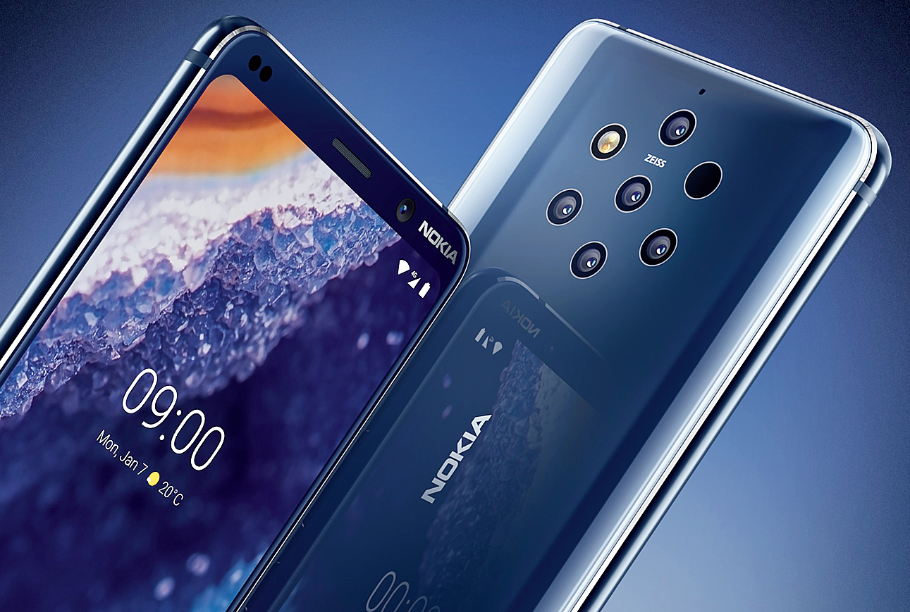 On the Nokia 9 PureView, each of the five cameras on the back has a 12MP sensor. The phone is priced Rs 49,999