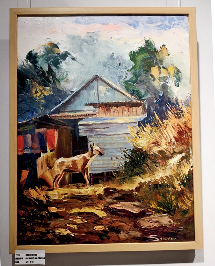 A painting at the exhibition