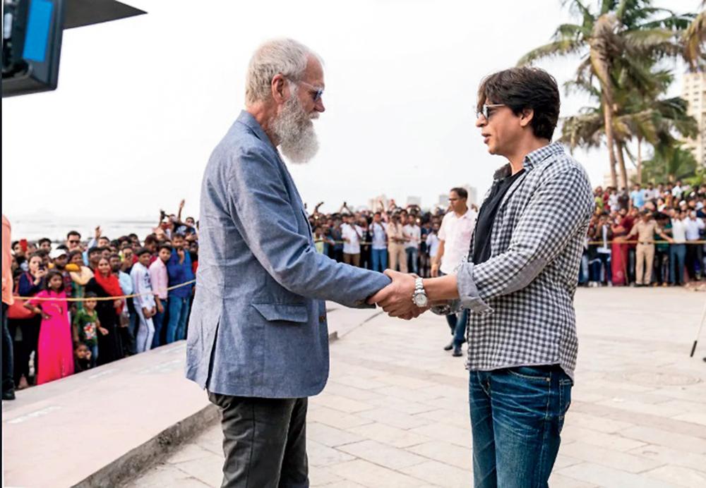 David Letterman with Shah Rukh Khan