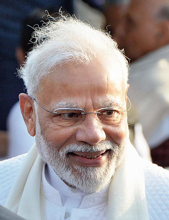 Narendra Modi at Rashtrapati Bhavan on Sunday.