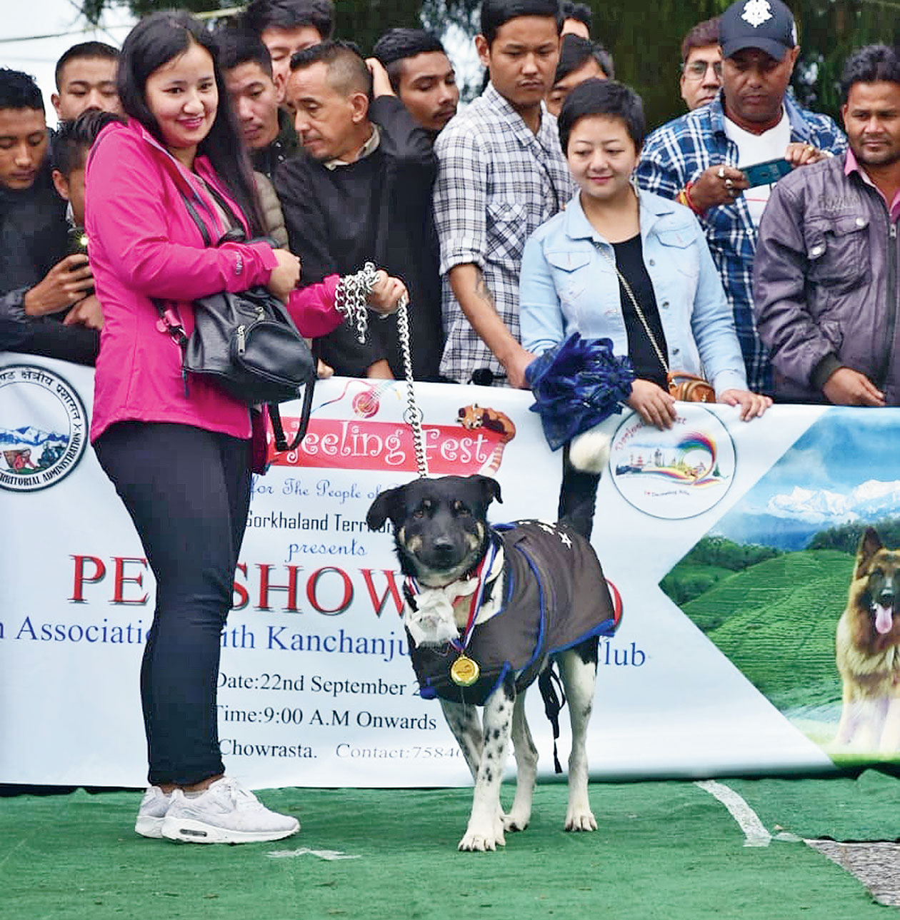 Tiger after the felicitation in Darjeeling on Sunday