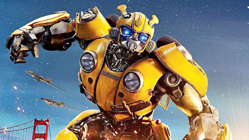 Bumblebee is an origin story, and it begins on Cybertron, the realm of the Transformers