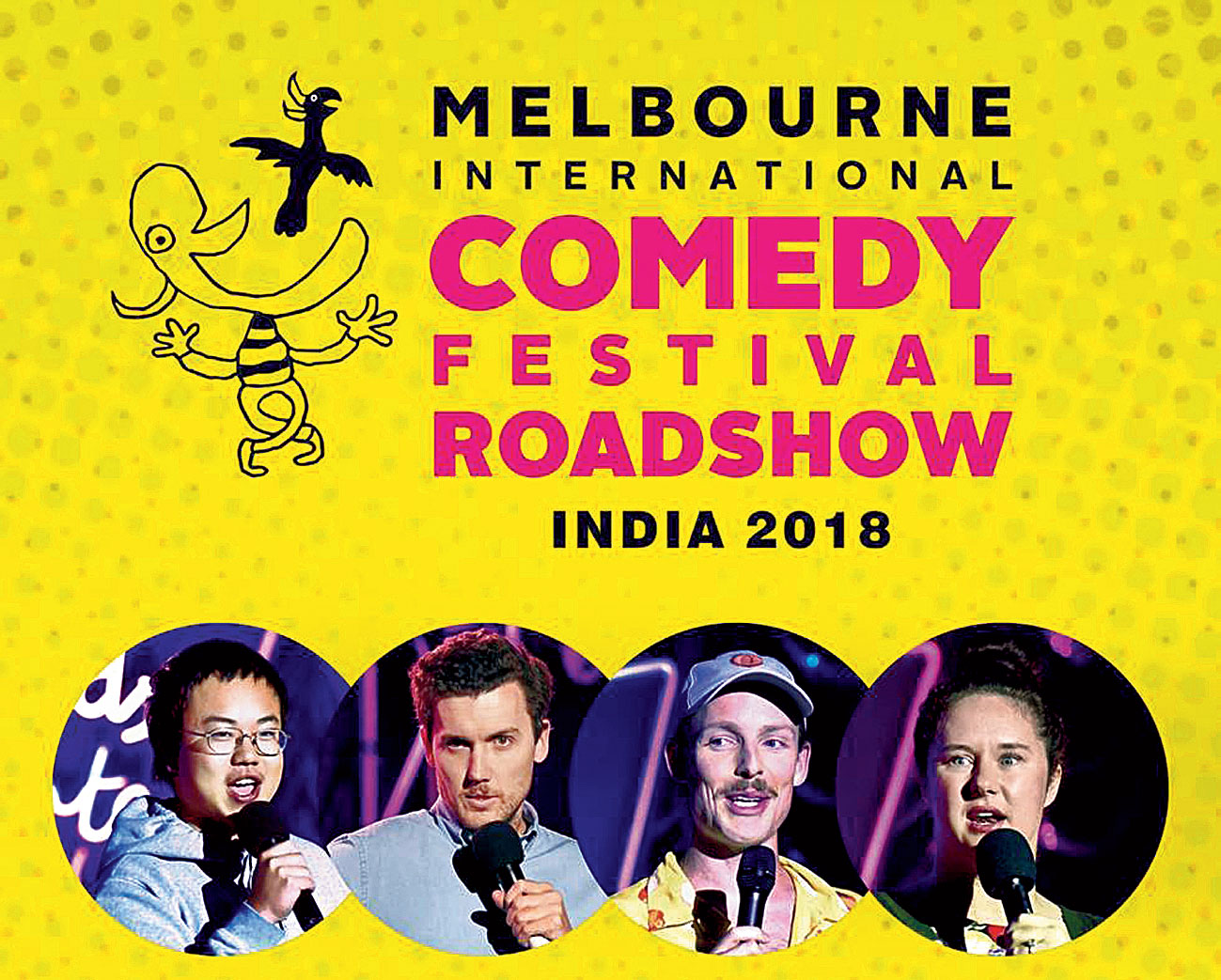 A poster of the comedy festival