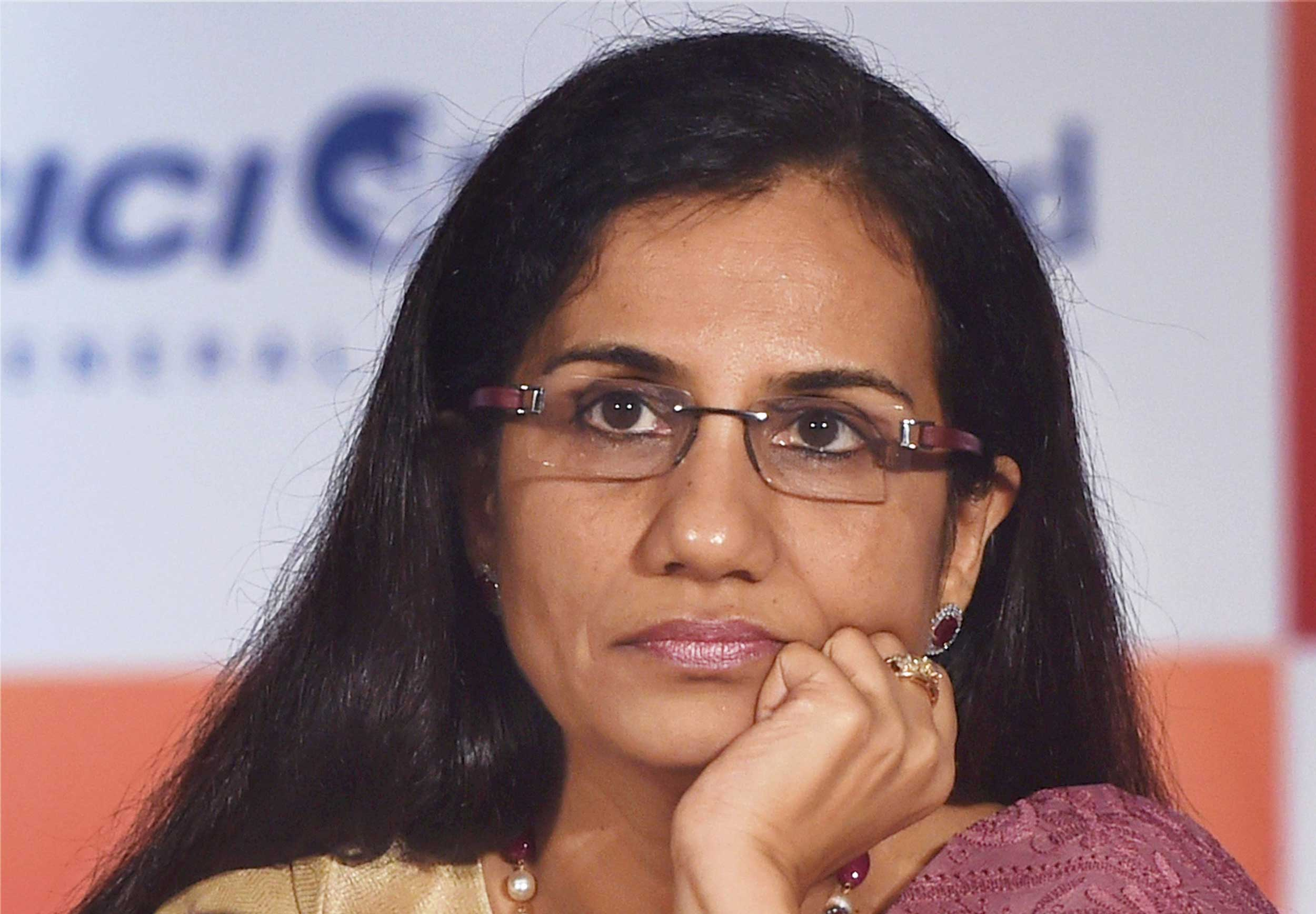 Chanda Kochhar at a press conference in Mumbai on September 08, 2017.