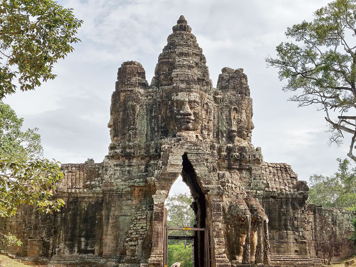 A gate of the city of Angkor Thom