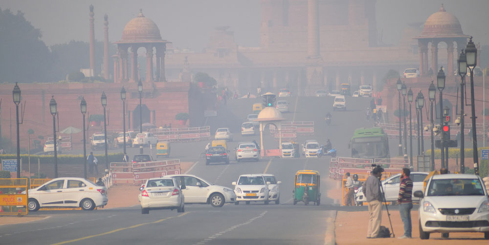 The number of air pollution deaths in China dropped from 2016 to 2017 but the Indian fatalities rose from 1.1 million to 1.2 million