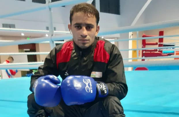 """""""I hope to secure an Olympic spot in the first qualifier itself,"""" said the Rohtak boxer Amit Panghal"""