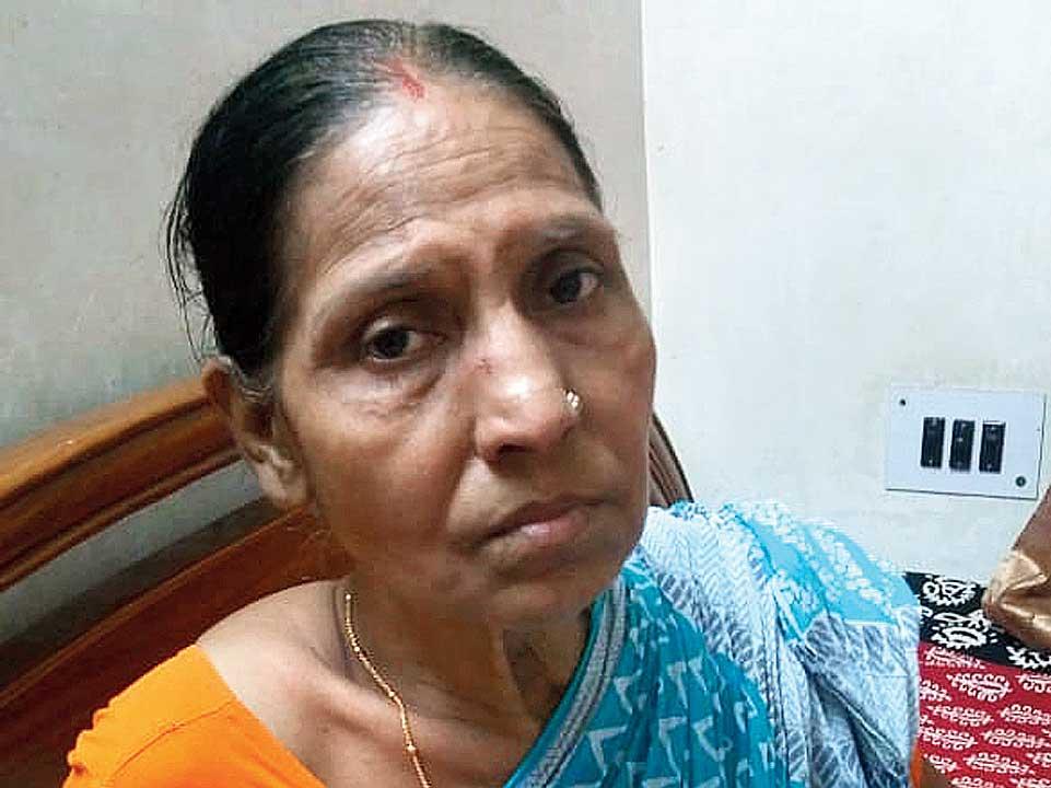 Chinurani Paul, whose husband Shanti Ranjan died in the accident.