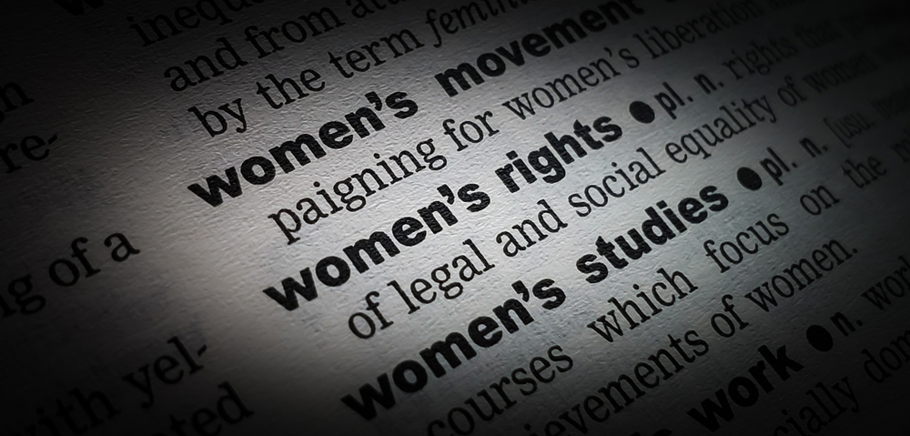 The dictionary merely records the way women are treated in real life