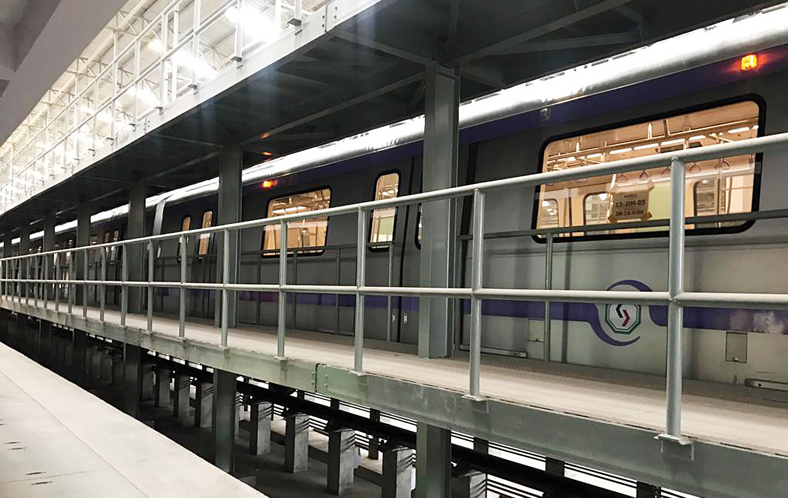 An East-West Metro train at the Salt Lake Central Park maintenance depot. Such a rake will be used for the evacuation trial