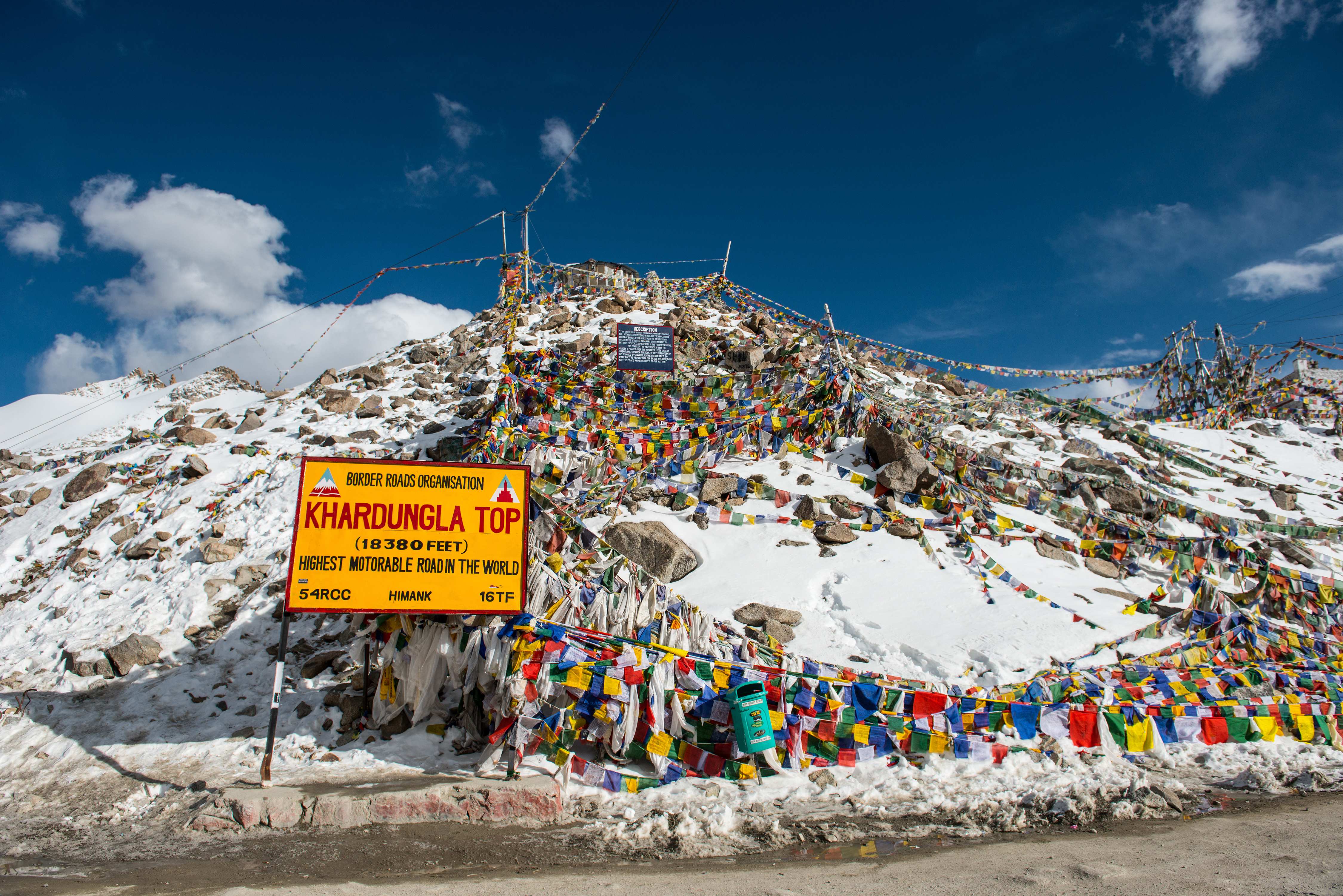 The avalanche hit the truck carrying 10 persons at 7 am. The pass, Khardung La, is India's highest motorable road.