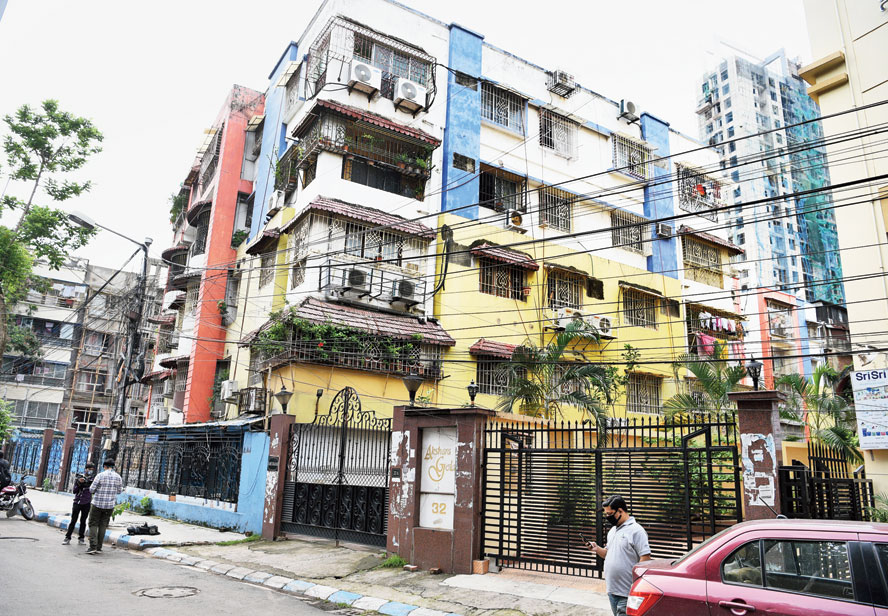 The Kankurgachhi apartment building where Amit Agarwal's in-laws lived.