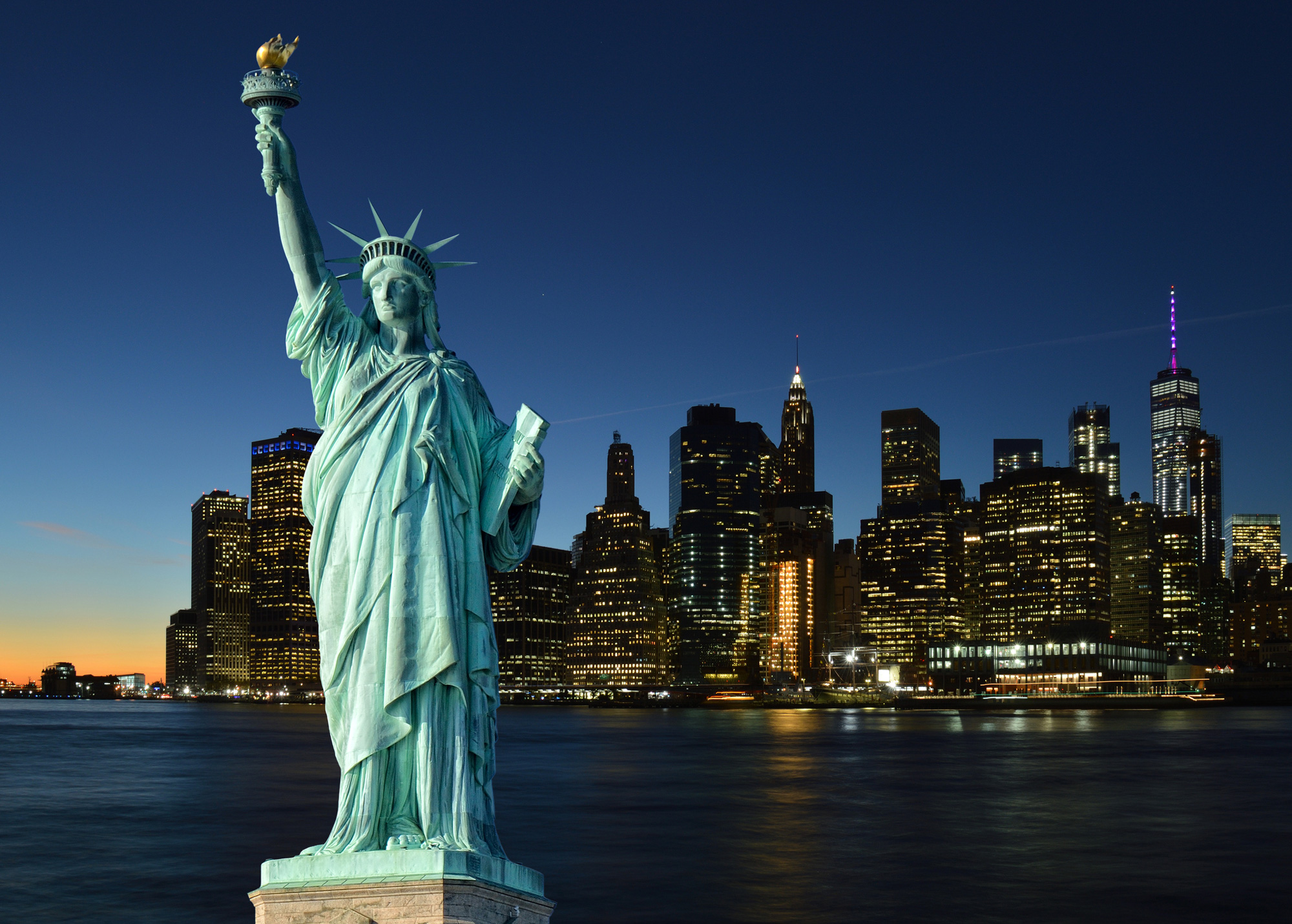 The American horizon has been dominated, since 1886, by the Statue of Liberty, standing at an impressive 151 feet.