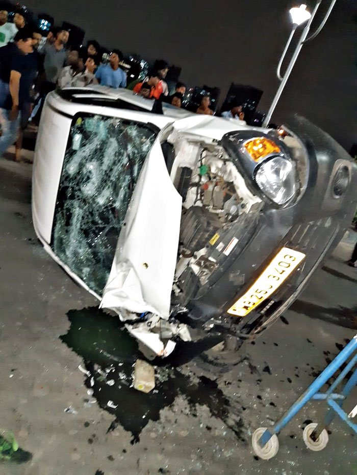 The app cab after the accident